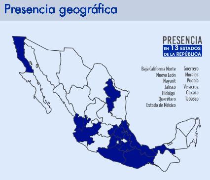presencia geografica de GEO